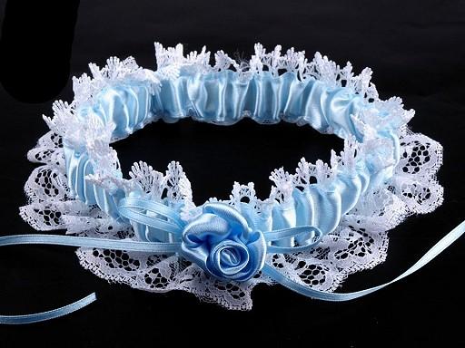 Svatební podvazek krajkový šíře v rozmezí od 6-8 cm