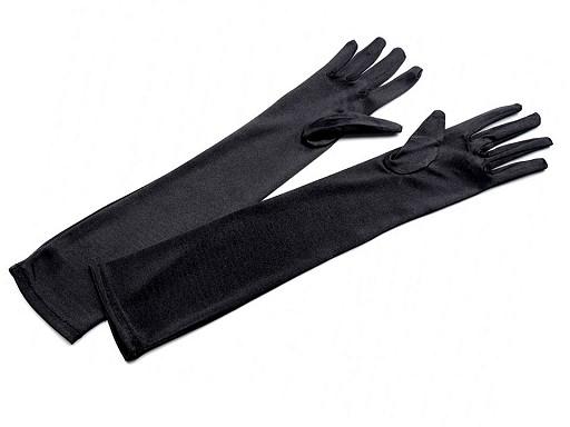 Hosszú alkalmi szatén kesztyű 45 cm
