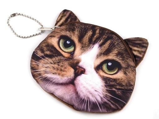 Peněženka kočka 11x11,5 cm