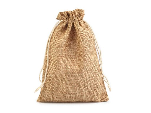 Drawstring Pouch Bag 12.5x17.5 cm Imitation Jute 2nd quality