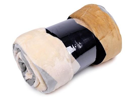 Velká deka / přehoz fleece 200x230 cm