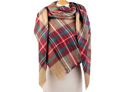 Velký teplý šátek / pléd 145x145 cm