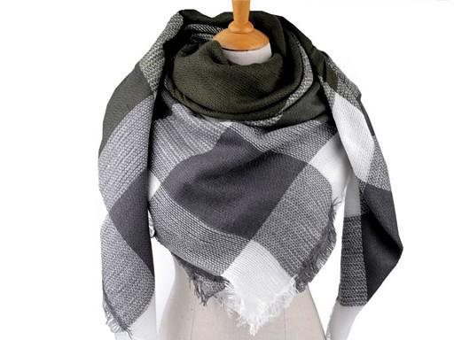Velký teplý šátek / pléd 140x140 cm