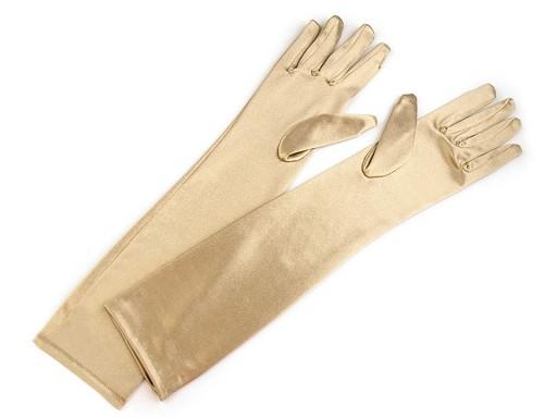 Dlouhé společenské rukavice saténové