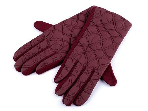 Dámské prošívané rukavice