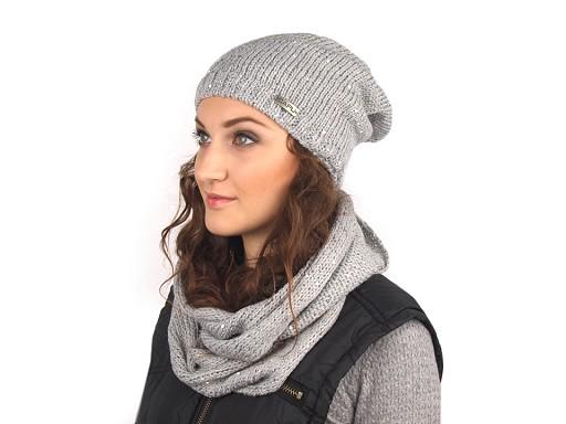 Dámská zimní čepice s flitry Capu