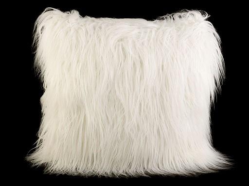 Chlupatý dekorační polštář s výplní