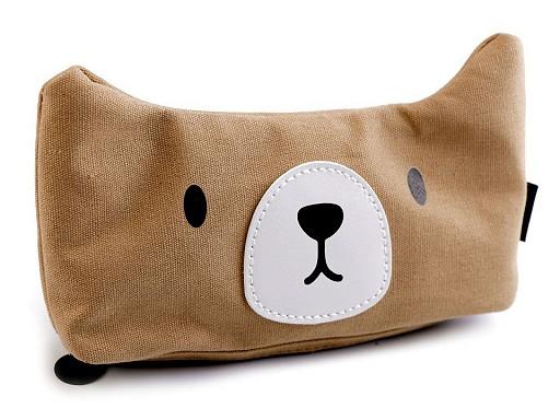 Pouzdro kočka, medvěd, sova, liška, prasátko Languo 11x20 cm