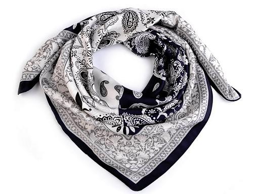 Hedvábný šátek paisley ornamenty 70x70 cm