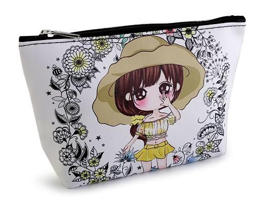 Kosmetická taška / pouzdro panenka 14x23 cm