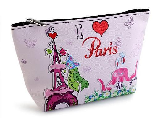 Kosmetická taška / pouzdro Paříž 14x23 cm