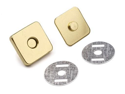 Închizatori / Capse magnetice pătrate, 18x18 mm