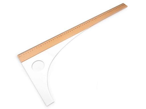 Krajčírsky príložník dĺžka 60 cm, 80 cm