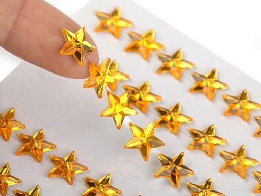 Samolepicí hvězdy na lepicím proužku Ø10 mm
