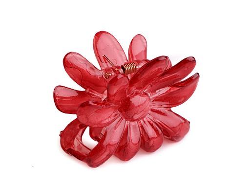 Klamra do włosów 5x6,5 cm kwiat