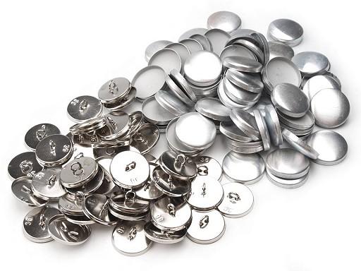 """Foremki guzików do obciągania materiałem rozmiar 36"""" metalowe"""