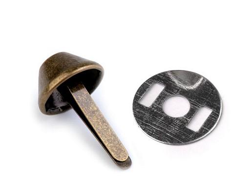 Dvounožkový hřeb / kovové nožičky na kabelky 12x22 mm