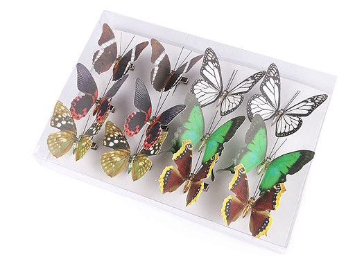 Dekorace motýl 3D s klipem