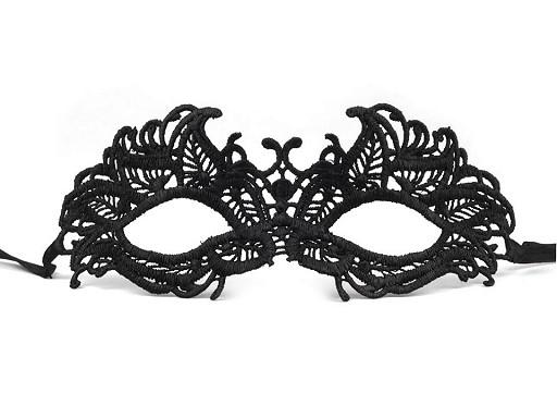 Karnevalová maska - škraboška čipková