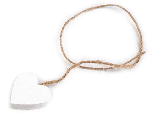 Dřevěné srdce Ø30 mm s provázkem
