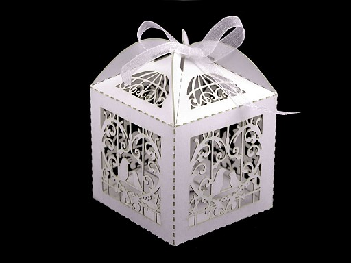 Laser Cut Gift Box with Ribbon