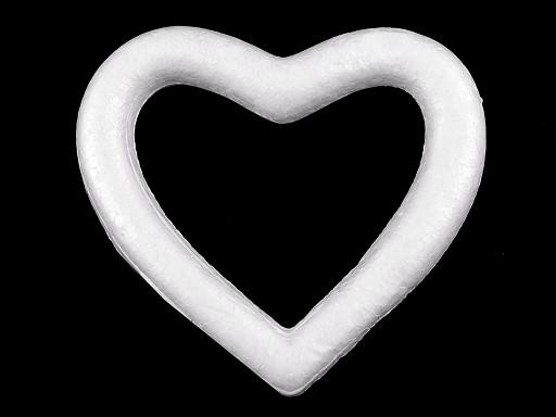 Srdce 12x14 cm polystyren