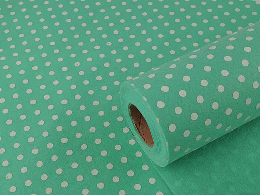 Plsť / filc šíře 41 cm s puntíky