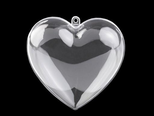 Plastová krabička srdce 10x10 cm dvojdielne