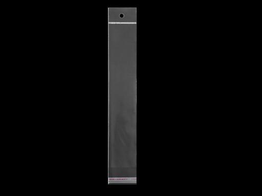 Celofánové sáčky s lepicí lištou a závěsem 5x25,5 cm