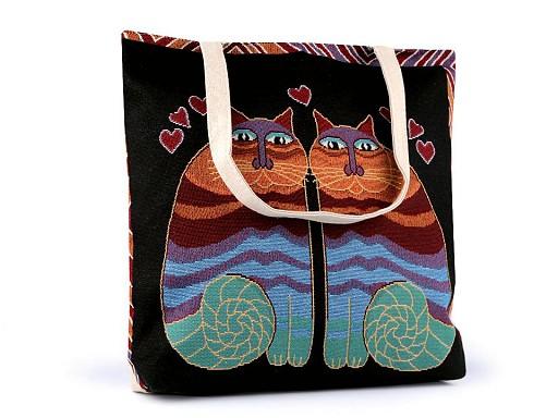 Linen Bag Owl, Cat, Fox 43x44 cm