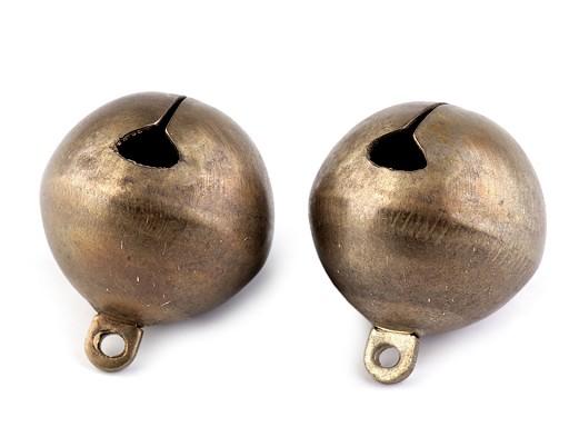 Clopoței / zurgălăi alamă, Ø25 mm