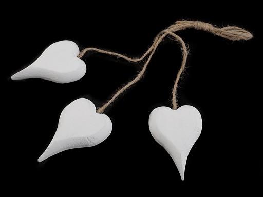 Dřevěné srdce 45x70 mm s provázkem