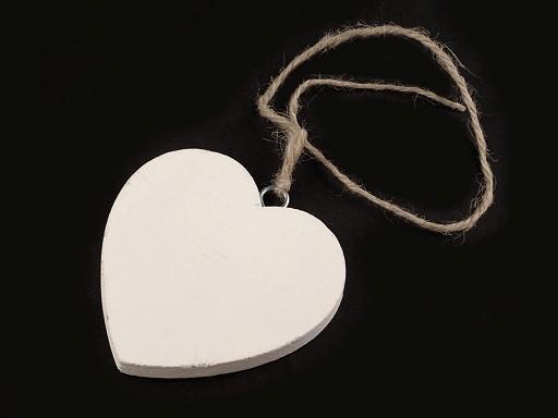 Dřevěné srdce Ø70 mm s provázkem
