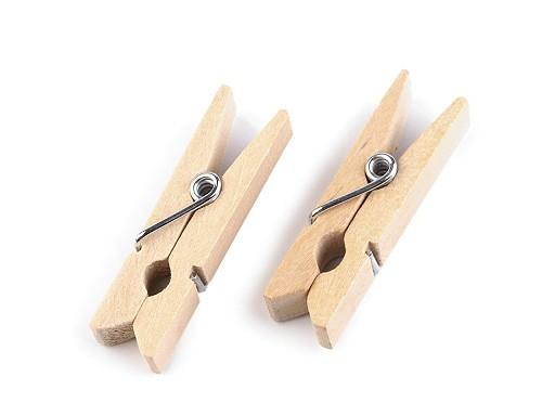 Dřevěný kolíček jednobarevný 7x35 mm