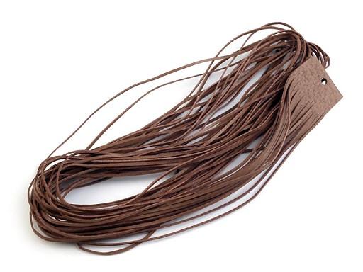 Kožený řemínek šíře 2 mm, 110 cm