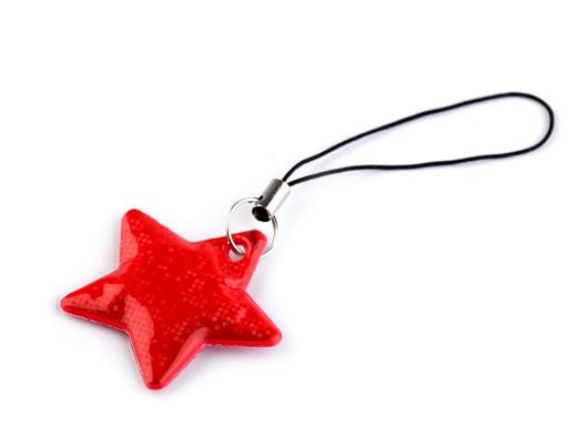 Reflexní přívěsek / taháček hvězda