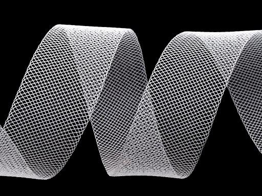 Modistická krinolína na vyztužení šatů a výrobu fascinátorů šíře 1,5 cm