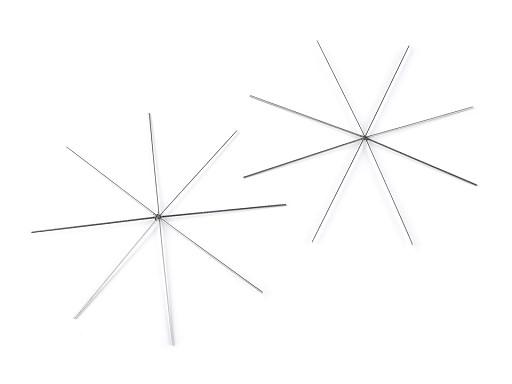 Gwiazda / śnieżynka - baza metalowa Ø10 cm