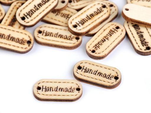 Dřevěná cedulka / ozdoba Handmade 11x23 mm