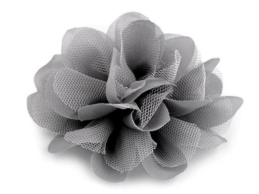 Šifónový květ Ø80 mm a Ø90 mm