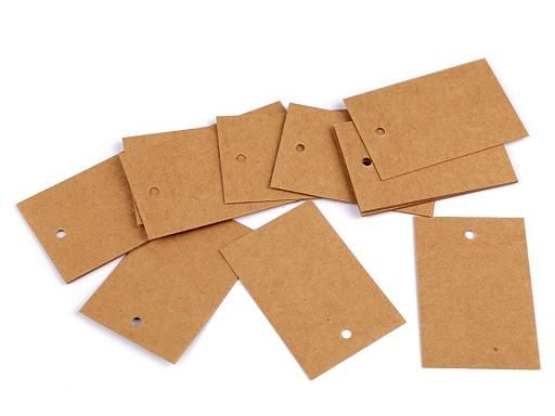 Papírová visačka / jmenovka 40x60 mm