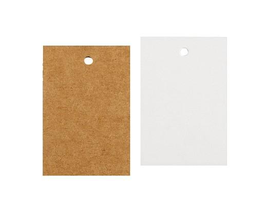 Papierová visačka / menovka 40x60 mm