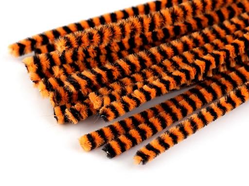 Chlupaté drátky proužkované do horní části roušek Ø6 mm délka 30 cm