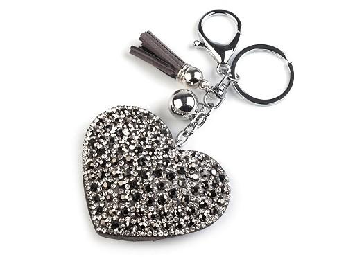 Brelok / zawieszka na torebkę / klucze serce