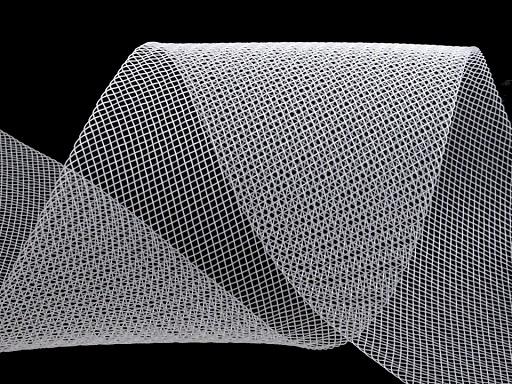 Modistická krinolína na vyztužení šatů a výrobu fascinátorů šíře 10 cm