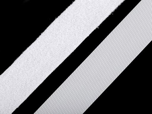 Nízkoprofilový suchý zip háček + plyš šíře 20 mm jemný