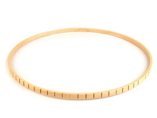 Dřevěný kruh na lapač snů Ø28,5 cm se zářezy