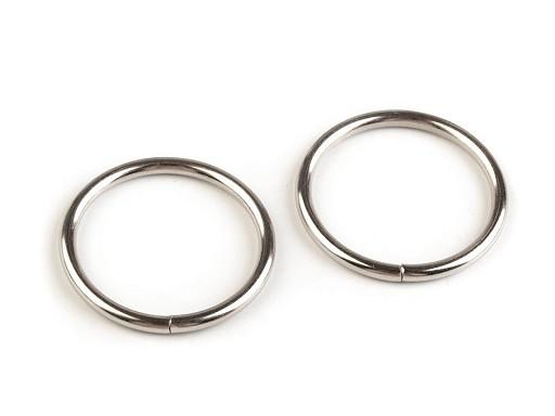 Kroužek Ø25 mm na koženou galanterii