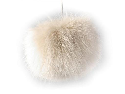 Kožešinová bambule na čepici Ø8 cm