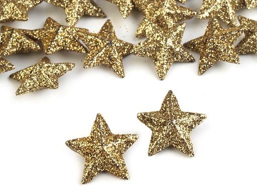 Vánoční hvězdy s glitry Ø20 mm